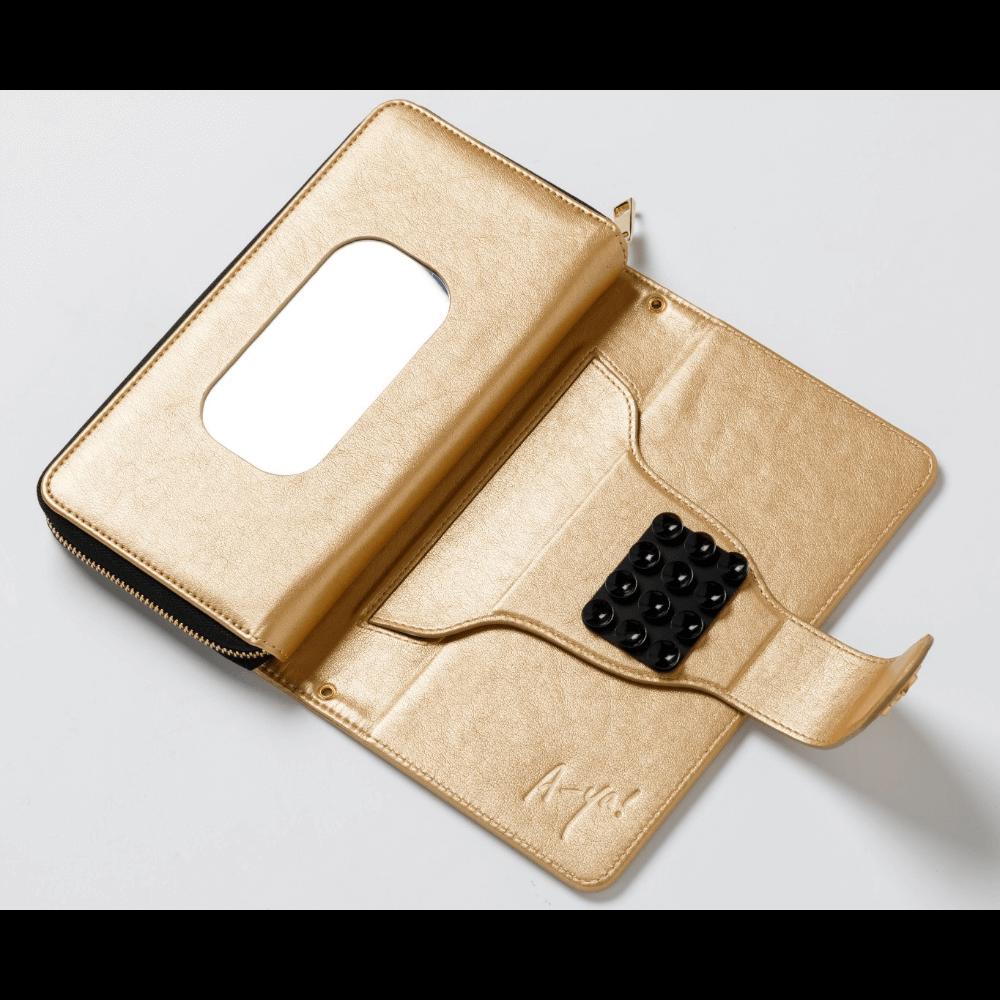 お財布にもなるスマホケース(ゴールド)